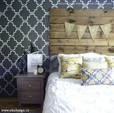 trendy glam room makeovers with diy black painted u0026 stenciled