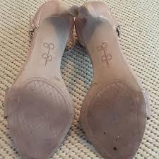 jessica simpson nudw jessica simpson nude strappy rhinestone heels pumps size us 7