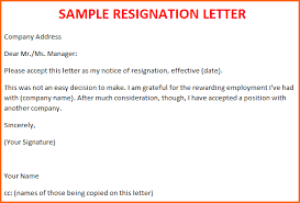 5 sample resignation letter template budget template letter