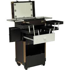 professional makeup storage hair stylist with led lights c6233