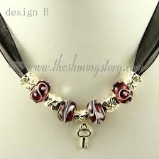 bead charm necklace images Silver charms necklaces with european murano glass beads wholesale jpg