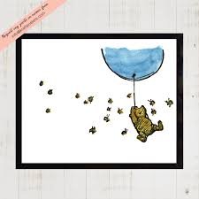 Winnie The Pooh Wall Decals For Nursery by Winnie The Pooh Wall Art Baby Nursery Art Classic Winnie The