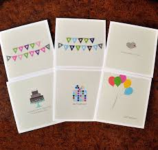pack of four mix and match birthday cards by bold bunny