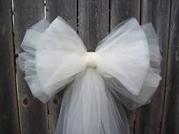 wedding bows tulle pew bow 20 colors tulle church pew decor tulle pew