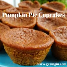 Crustless Pumpkin Pie by Pumpkin Pie Cupcakes Gazing In