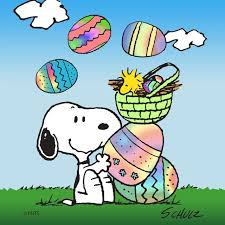 snoopy easter peanuts print on canvas contemporary wall