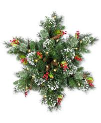 national tree company 32 wintry pine led snowflake swag with