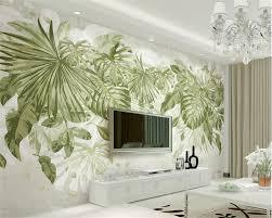 beibehang 3d wallpaper fresh green grass foliage plant jungle wind