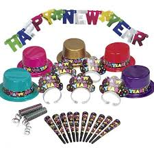 cheap new years party favors colorful new years party supplies kit for 10 walmart