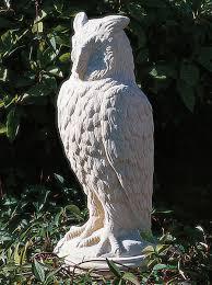 eagle owl cast garden ornaments architectural building