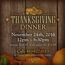 traditional eastern shore thanksgiving dinner 2016 the narrows