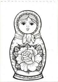 free coloring coloring russian dolls 3 babushka u0027s