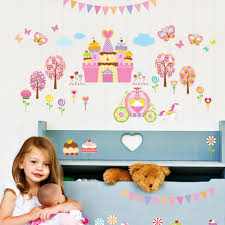 the fairy castle wall stickers wall murals ireland princess stickers wall decals by www kidswallstickers ie