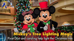 mickey s tree lighting magic disney cruise line