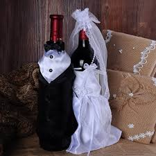 wine bottle wraps 1 set groom dress wine bottle wraps glass wedding chagne