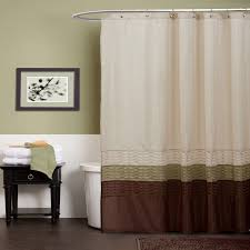 Green And Brown Shower Curtains Lush Decor Green Brown Shower Curtain