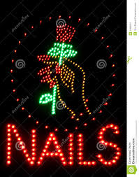 nail salon neon sign royalty free stock photography image 33382947
