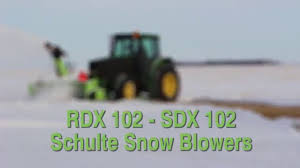 schulte snow blowers sdx 102 rdx 102 youtube