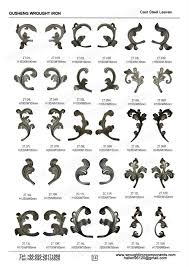 ornamental cast iron flowers and leaves for wrought iron fence