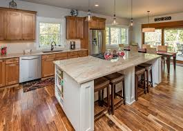 acacia wood flooring reviews kitchen transitional with breakfast