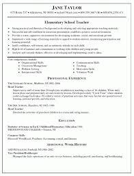 Substitute Teacher Job Description For Resume by Teacher Resume Summary Resume For Your Job Application