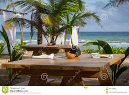 tropical vacation dining stock images image 35545464