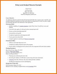 Resume Templates For Entry Level Jobs Entry Level Accounting Resume Examples Resume Example And Free
