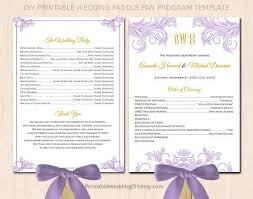 fan wedding program template printable fan program mint green