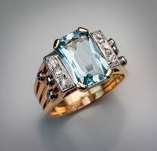 art deco rings vintage aquamarine and diamond ring antique