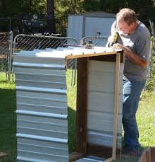 how to build a corrugated steel raised planting bed garden