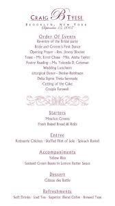 Order Of Wedding Program 100 Christian Wedding Program Templates Free Printable