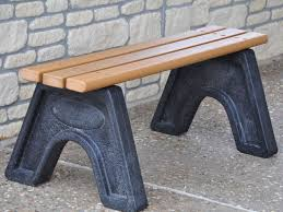 Recycled Plastic Furniture Sport Bench By Jayhawk Plastics Outdoor Benches For Park And