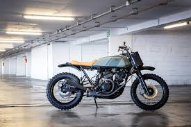custom honda sleek cafe racer dreams revamps the honda transalp bike exif