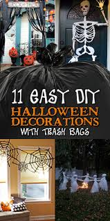 Easy Home Halloween Decorations 11 Easy Diy Halloween Decorations With Trash Bags