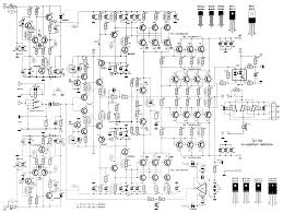 2000w class ab power amplifier schematic design watt wiring