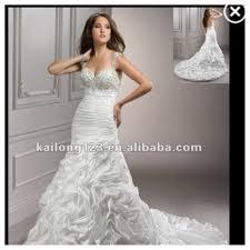 mermaid dress w bling bodice and ruffled skirt wedding dresses