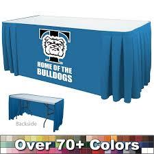 8 ft table skirt customized 8 ft box pleat digital print table skirt open back