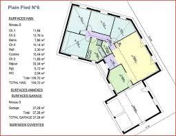 plan de maison 4 chambres plain pied plan maison en u 6 chambres