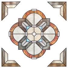 Decorative Trim Home Depot by Artscape 12 In X 12 In Newport Amber Medallion Decorative Window