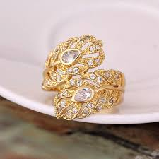 bridal gold rings big gold ring designs lovely aliexpress new design gold color big