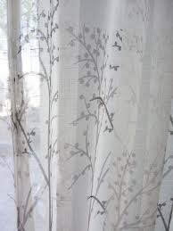 Sheer Off White Curtains Off White Sheer Curtain Voile Panel With Printed Tree Pattern