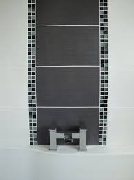 bathroom feature tiles ideas fascinating coventry grey bathroom tile with feature wall created