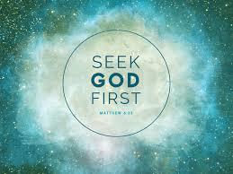Seeking God Seek God The Abundant Center