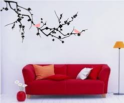 new 2017 vinyl fashion tree branch cherry blossom wall decal with new 2017 vinyl fashion tree branch cherry blossom wall decal with birds wall art wall stickers home decor large size 120 58cm in wall stickers from home