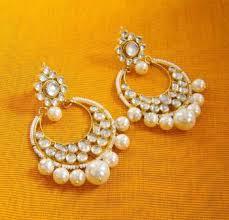 chandbali earrings online buy kundan pearl chand bali earrings online