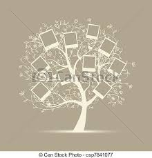 family tree design insert your photos into frames vectors