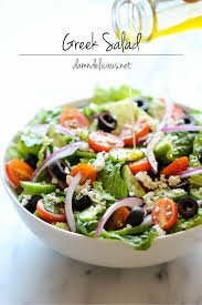 how many calories in a greek salad with dressing