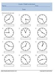 practice test telling time second grade telling time and