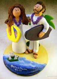 wedding cake topper of the daybeach cake topper custom with