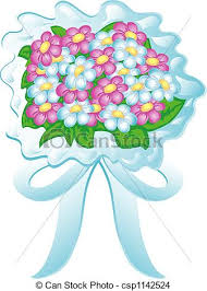 wedding flowers drawing illustration of a wedding bouquet with pink and white drawing